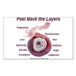 peel-back-layers Sticker (Rectangle)