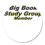 big-book-study-group Round Car Magnet
