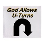 u-turns Throw Blanket