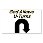 u-turns Sticker (Rectangle 50 pk)