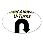 u-turns Sticker (Oval 10 pk)