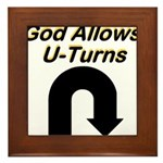 u-turns Framed Tile