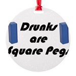square-pegs Round Ornament