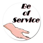 be-of-service Round Car Magnet