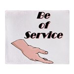 be-of-service Throw Blanket