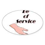 be-of-service Sticker (Oval 10 pk)
