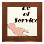 be-of-service Framed Tile