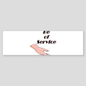 be-of-service Sticker (Bumper)