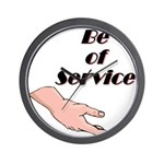 be-of-service Wall Clock