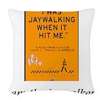 jaywalking Woven Throw Pillow