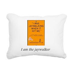 jaywalking Rectangular Canvas Pillow