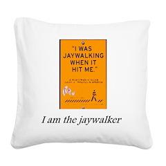 jaywalking Square Canvas Pillow