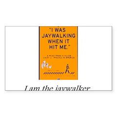 jaywalking Sticker (Rectangle 50 pk)