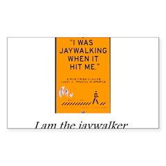 jaywalking Sticker (Rectangle 10 pk)