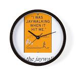 jaywalking Wall Clock