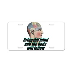 mind-will-follow2 Aluminum License Plate
