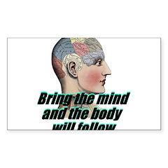mind-will-follow2 Sticker (Rectangle 10 pk)