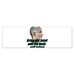 mind-will-follow2 Sticker (Bumper)