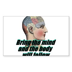 mind-will-follow2 Sticker (Rectangle)