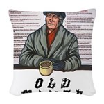 old-timer Woven Throw Pillow