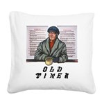 old-timer Square Canvas Pillow