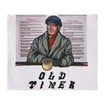 old-timer Throw Blanket