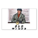 old-timer Sticker (Rectangle 50 pk)
