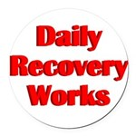 daily-recovery Round Car Magnet