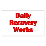daily-recovery Sticker (Rectangle 10 pk)
