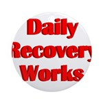 daily-recovery Round Ornament