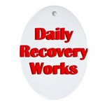 daily-recovery Oval Ornament
