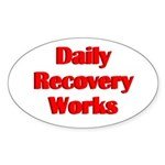 daily-recovery Sticker (Oval)