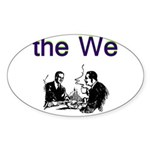 the-we Sticker (Oval)
