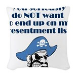 resentment-pirate Woven Throw Pillow