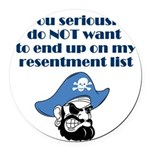 resentment-pirate Round Car Magnet