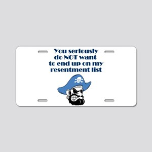 resentment-pirate Aluminum License Plate