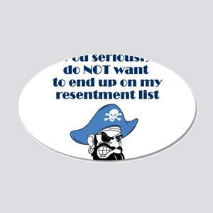 resentment-pirate 20x12 Oval Wall Decal