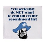 resentment-pirate Throw Blanket