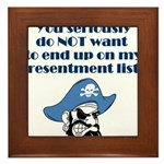 resentment-pirate Framed Tile