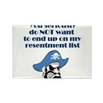 resentment-pirate Rectangle Magnet (100 pack)