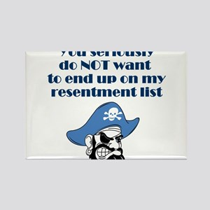 resentment-pirate Rectangle Magnet