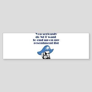resentment-pirate Sticker (Bumper)