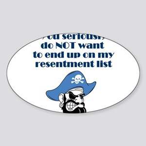 resentment-pirate Sticker (Oval)