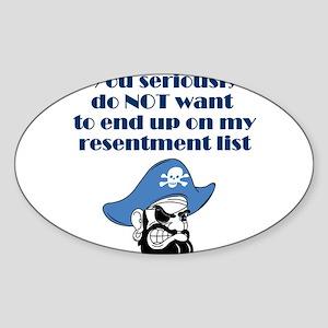 resentment-pirate Sticker (Oval)