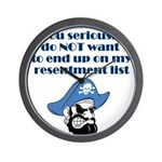 resentment-pirate Wall Clock