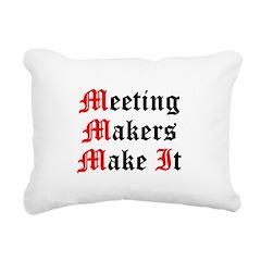 meeting-makers Rectangular Canvas Pillow