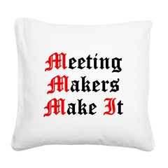 meeting-makers Square Canvas Pillow