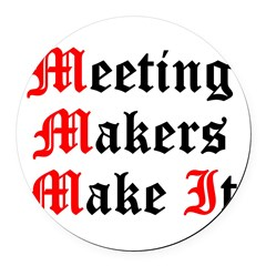 meeting-makers Round Car Magnet