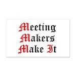 meeting-makers Rectangle Car Magnet