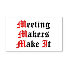 meeting-makers Rectangle Car Magnet